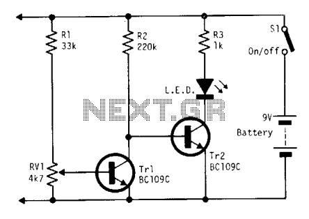 Battery indicator - schematic