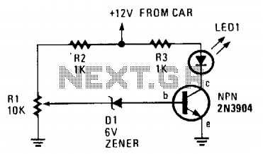 Car battery monitor III - schematic