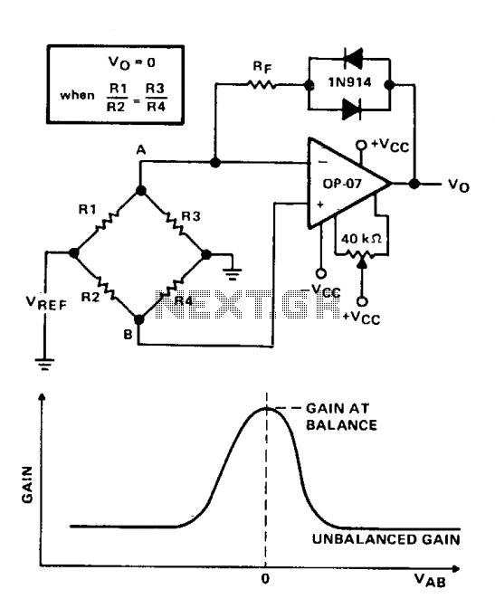 Bridge balance indicator - schematic