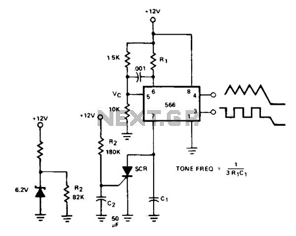 Tone burst generator - schematic