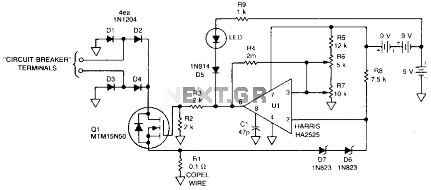 Fast circuit breaker - schematic