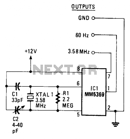 60Hz pulse generator - schematic