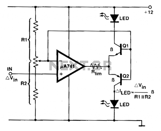 Voltage comparator circuit - schematic