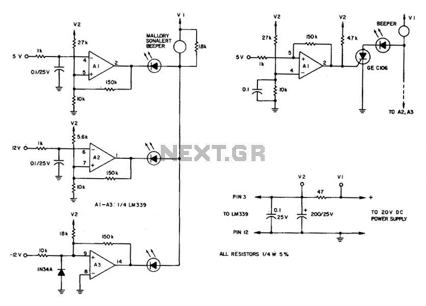 Comparator for over-voltages - schematic