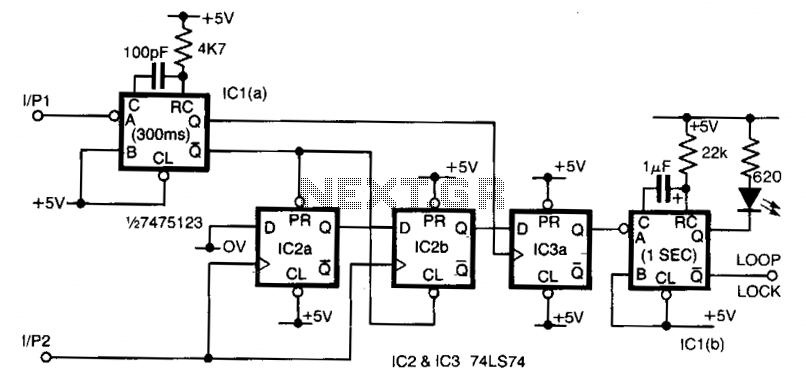 frequency comparator circuit   switching circuits