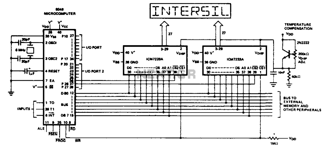 Microcomputer circuit - schematic