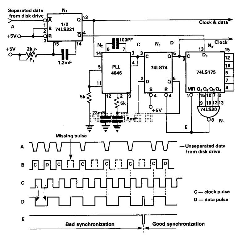 Data separator - schematic