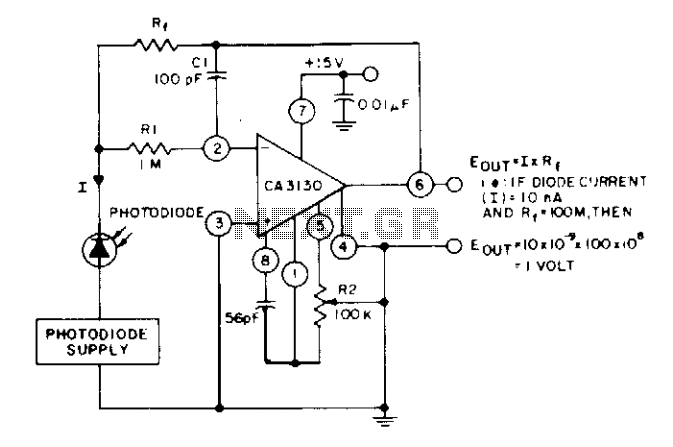 Photodiode current-to-voltage converter