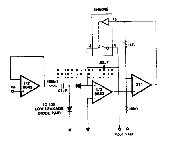 Analog counter circuit - schematic