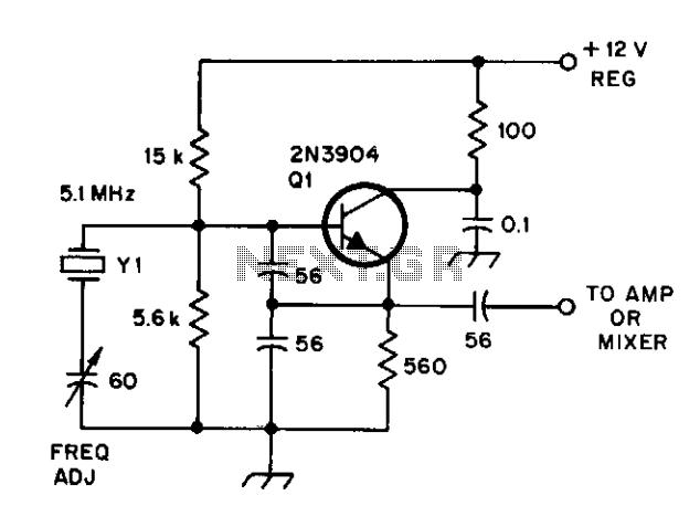 Crystal-controlled oscillator for ssb - schematic