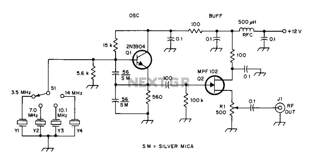 High frequency signal generator - schematic