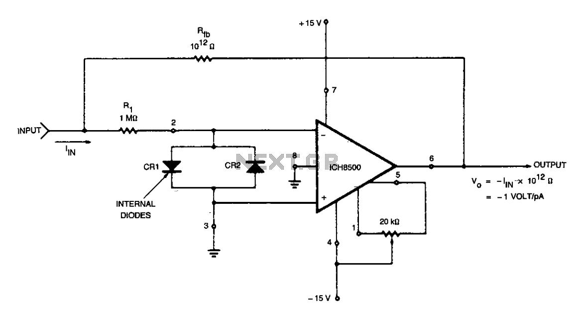 Pico ammeter - schematic