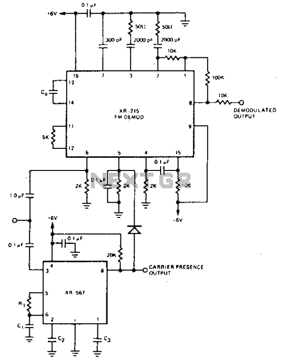 Narrow band FM demodulator - schematic