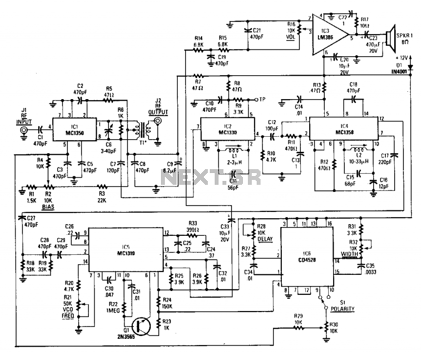 Gated pulse descrambler - schematic