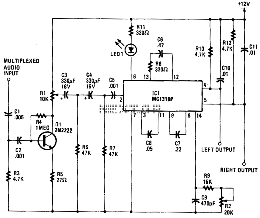 Stereo tv decoder - schematic