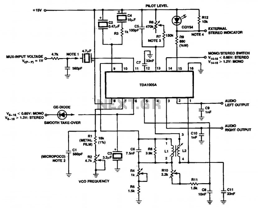 FDM stereo decoder - schematic