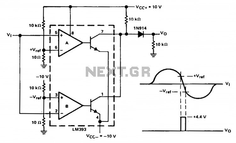 Zero-crossing detector - schematic