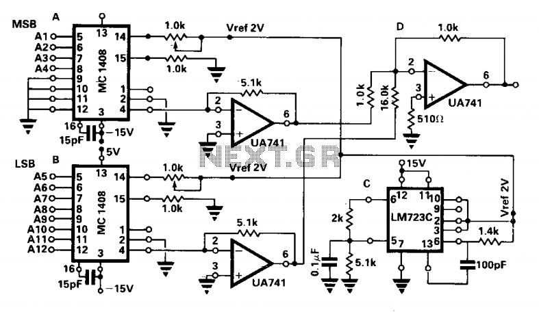 two 8-bit dacs make a 12-bit dac under digital to analog circuits
