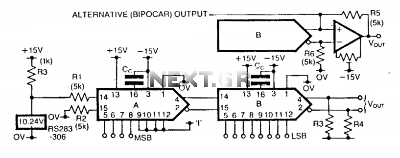 12-Bit dac with variable step size