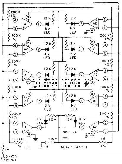 Led bar-graph driver - schematic