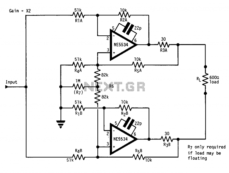 high output 600 ohm line driver   rf amplifier circuits