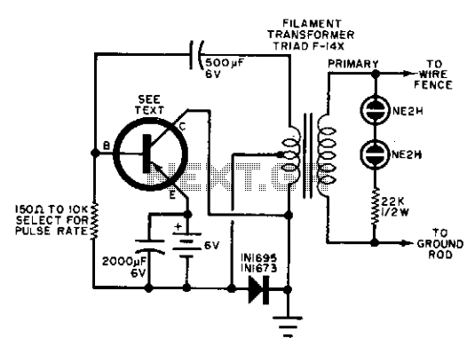Electric fence charger - schematic