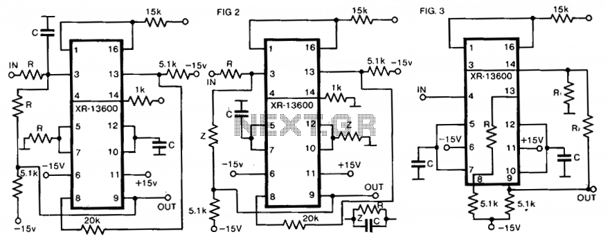 Universal active filter - schematic
