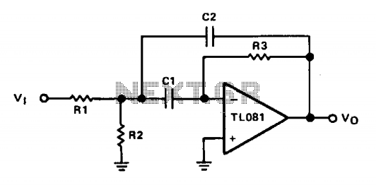 Multiple-feedback bandpass filter - schematic