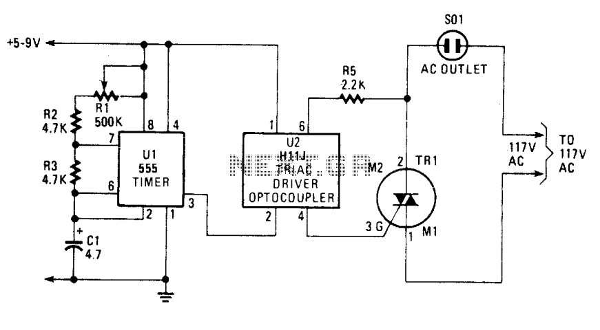 electronic light flasher under lighting circuits