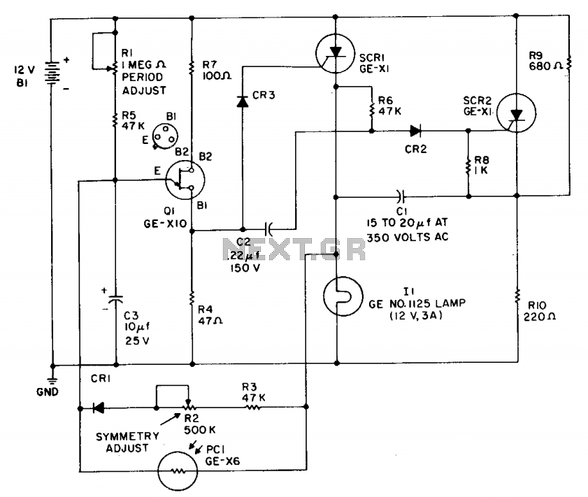 High-power battery-operated flasher - schematic