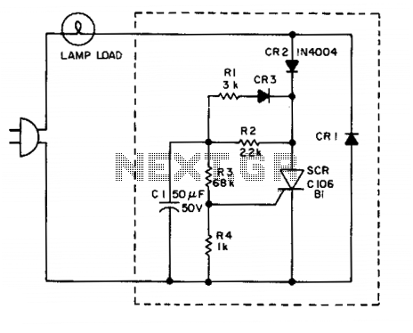 Lamp flasher II - schematic