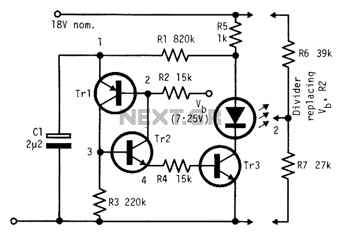Low current consumption lamp flasher - schematic