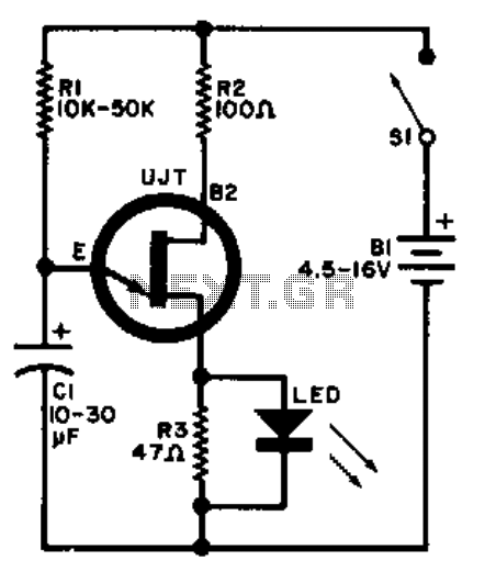 Led flasher - schematic