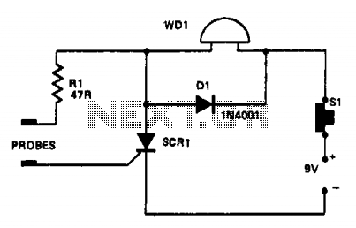 Water-level indicator - schematic