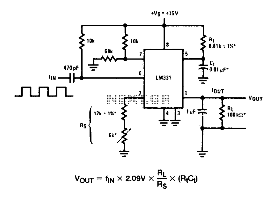 Frequency To Voltage Converter Circuit Diagram Wiring