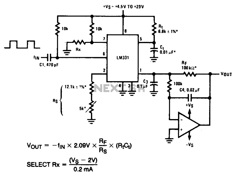 Precision frequency-to-voltage converter