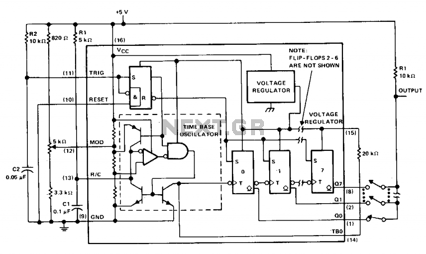 voltage frequency synthesizer PLL - schematic
