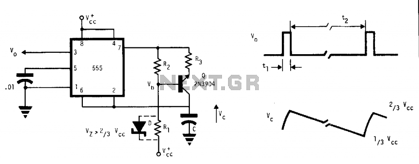 555 astable oscillator under 555 timer circuits
