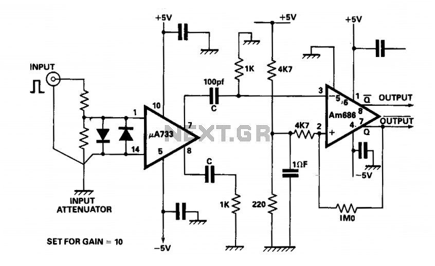 Monostable oscillator - schematic