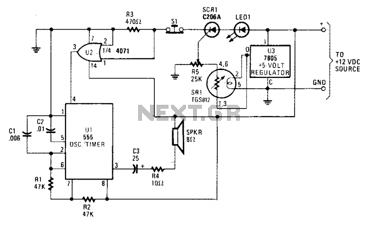Toxic gas detector - schematic
