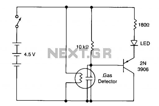 gas sensor circuit   sensors detectors circuits    next gr