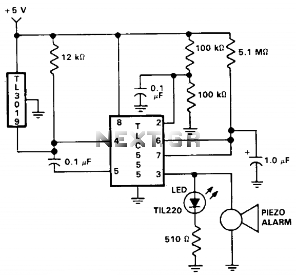 Door open alarm - schematic