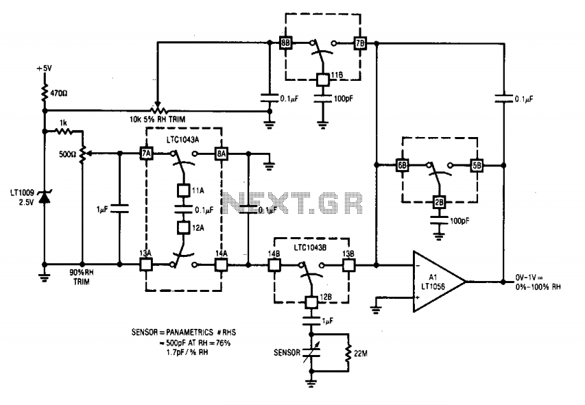 humidity sensor circuit - schematic