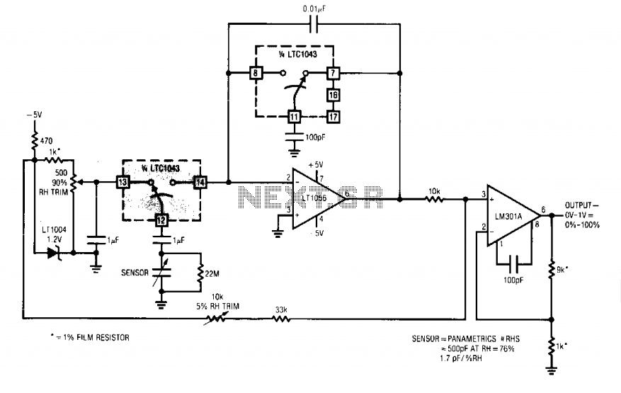 humidity sensor circuit II - schematic