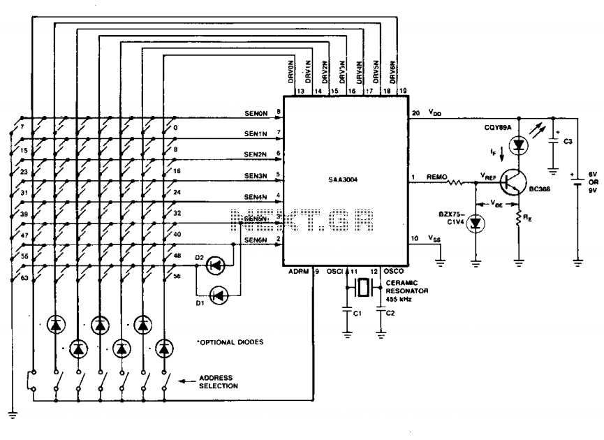 Infrared transmitter II - schematic
