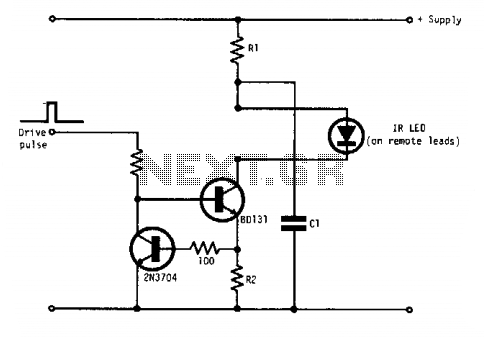 Pulsed infrared diode circuit