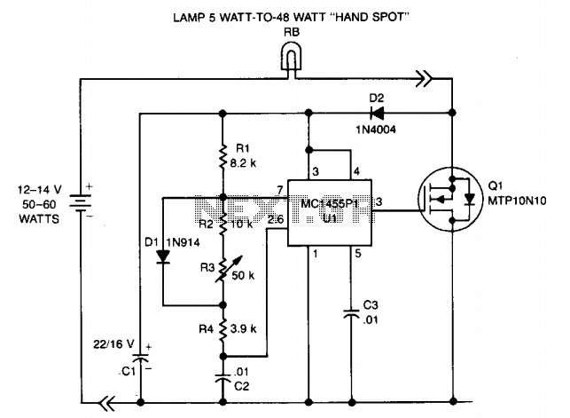 Dc lamp dimmer