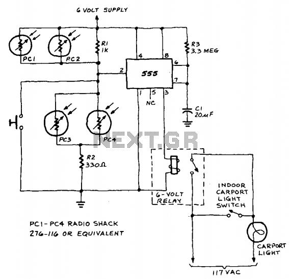Auto light controller - schematic