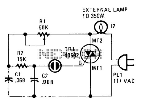 Triac lamp dimmer