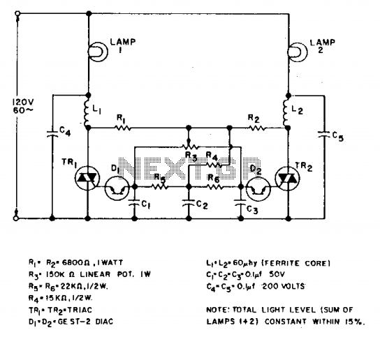 Tandem dimmer - schematic
